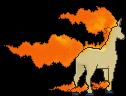 Gallopa-Sprite (XY, normal, Rückseite)