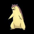 Tornupto-Sprite (XY, Shiny, vorne)