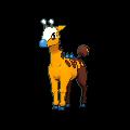 Girafarig-Sprite (XY, Shiny, vorne)