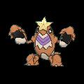 Krebutack-Sprite (XY, Shiny, vorne)