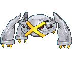 Metagross-Sprite (XY, Shiny, vorne)