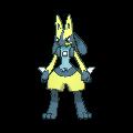 Lucario-Sprite (XY, Shiny, vorne)