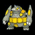 Rihornior-Sprite (XY, Shiny, vorne)