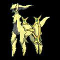Arceus-Sprite (XY, Shiny, vorne)
