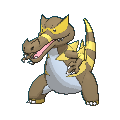 Rabigator-Sprite (XY, Shiny, vorne)