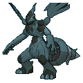 Zekrom-Sprite (XY, Shiny, vorne)